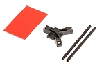 04953 Antenna support flat mounting, black