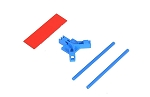 04960 Antenna support flat mounting, blue