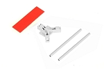 04962 Antenna support flat mounting, white