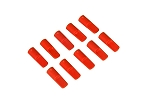 05084 Cover cap for 5.5mm gold connector, red