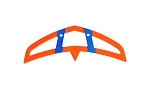 04625 Horizontal stabilizer neon-orange/blue