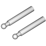 02382 Canopy holders, Aluminium