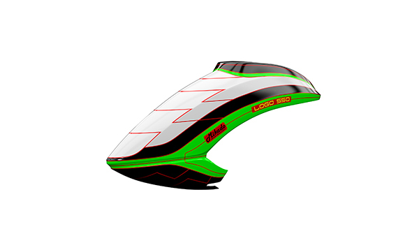 05162 Canopy LOGO 550 white/black/neon-green