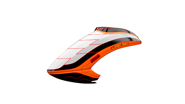 05163 Canopy LOGO 550 white/black/neon-orange