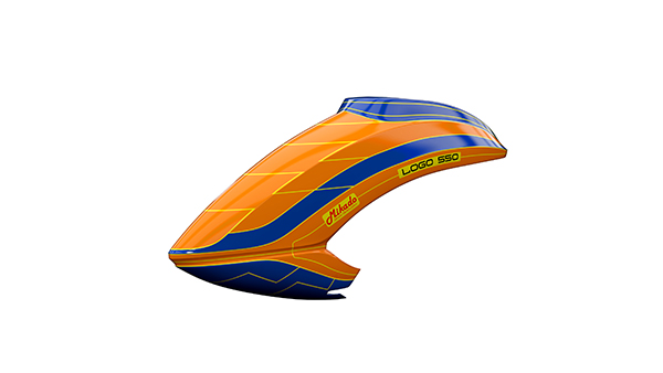 05172 Canopy LOGO 550 blue/yellow/neon-orange