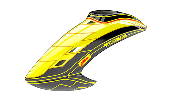 05142 Canopy LOGO 700, neon-yellow/black/gold