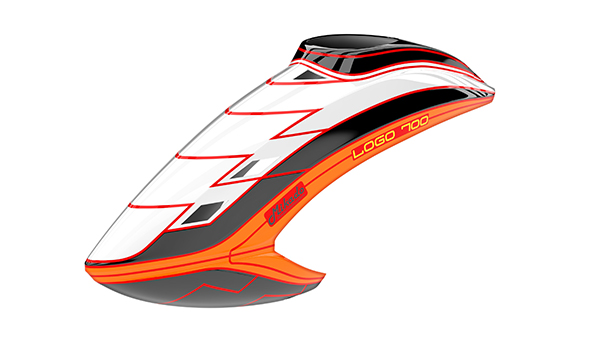 05147 Canopy LOGO 700, white/black/neon-orange