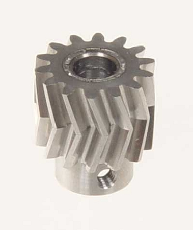 05011 Pinion for herringbone gear 14 teeth 25Á, M1, dia.6mm