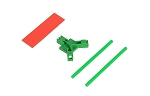 04966 Antenna support flat mounting, green
