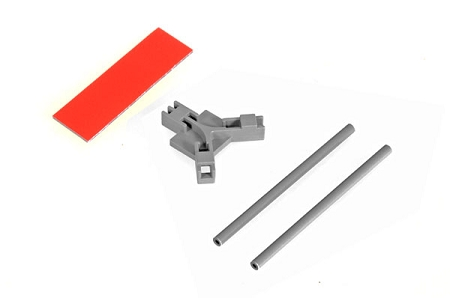 04968 Antenna support flat mounting, gray