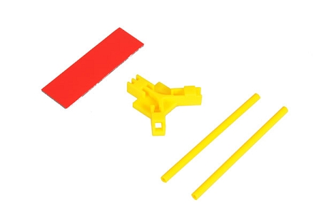 04964 Antenna support flat mounting, yellow