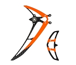 04983 Fin set LOGO 480 black/neon-orange
