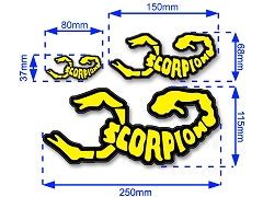 Scorpion Laser Decal Sticker 002