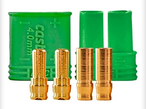 011-0065-00 Castle Creations 4mm Polarized Bullet Connector Set
