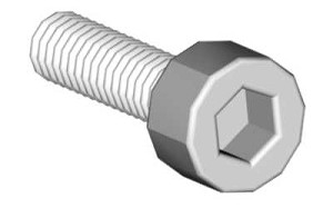04651 Socket head cap screw M2.5x12