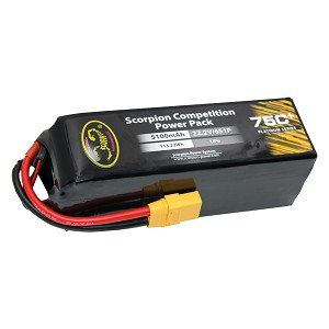 Scorpion Power 5100mAh 75C 22.2V 6S